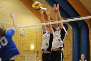 På hjemmebane i gymnasieskolernes volleyballturnering