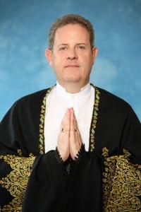 Nuværende leder af FISU International: Guru Rajesh Ananda