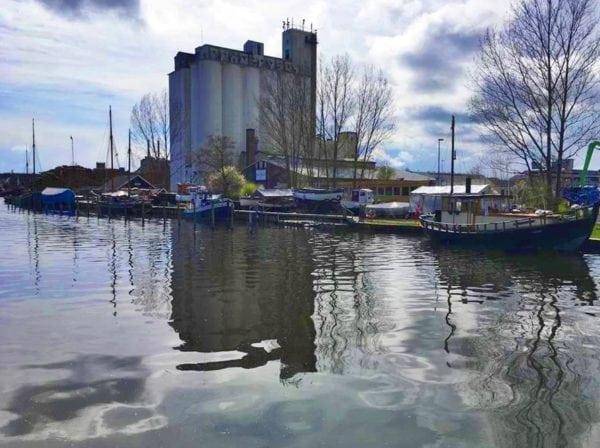 Næstved Havn på en kold forårsdag