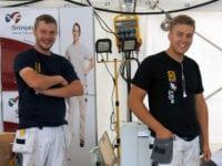 Mikkel Olsen og Mike Halvor Petersen. Foto: EUC Sjælland.