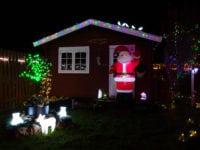 Vinder af det vildeste julelys. Foto: Morten Bille.