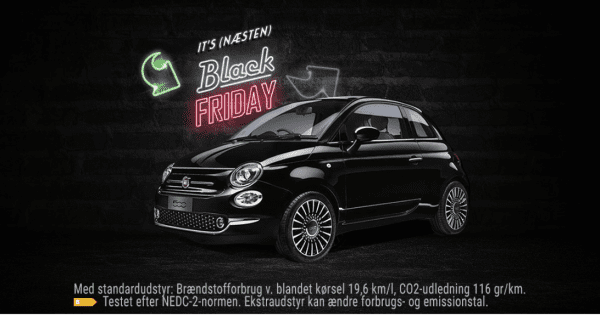 Fiat 500 Black Friday Edition