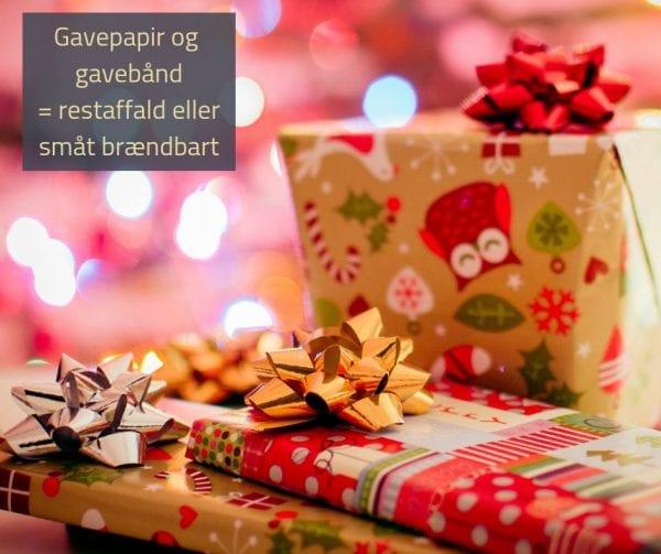 Hvordan skal gavebånd og gavepapir sorteres?