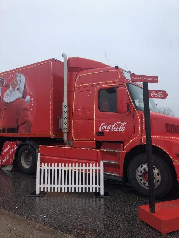 Coca-Cola julelastbilen var i Næstved