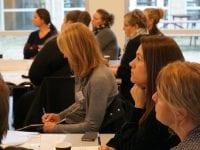 Der blev lyttet opmærksomt under de mange oplæg. Foto: Region Sjælland