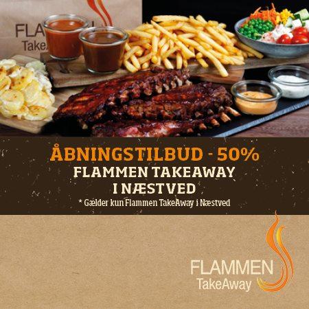 TakeAway tilbud hos Flammen