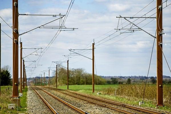 Test af det nye kørestrømsanlæg mellem Køge Nord og Næstved