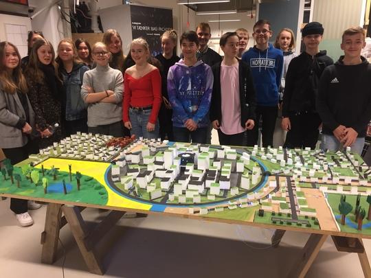 8. klasser fra Næstved dyster i fremtidens bæredygtige by