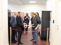 Åbning af Maker Space ved bestyrelsesformand og Martin Frøhling. Foto: NGH