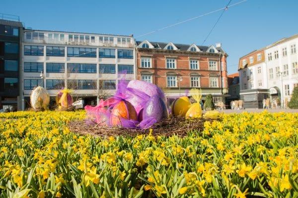 Påsken blomstrer i Næstved City