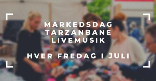 Markedsdag, livemusik og tarzanbane